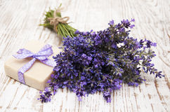 Lavender and soap with natural ingredients Stock Image