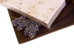 Lavender soap. spa. Isolated lavender soap. natural perfume Royalty Free Stock Photography