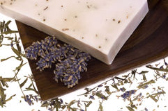 Lavender soap. spa. Isolated lavender soap. natural perfume Royalty Free Stock Images