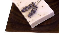 Lavender soap. spa. Isolated lavender soap. natural perfume Royalty Free Stock Image