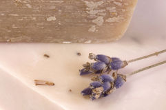 Lavender soap. spa Royalty Free Stock Photo