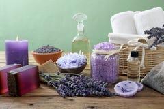 Lavender SPA έννοια Στοκ Φωτογραφία