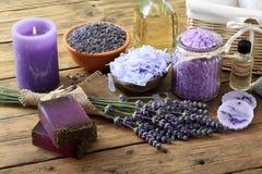 Lavender SPA έννοια Στοκ Φωτογραφίες