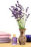 Lavender spa Royalty-vrije Stock Afbeelding