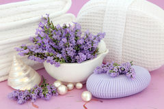 Lavender Spa Stock Photos