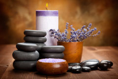 Lavender spa and aromatherapy Royalty Free Stock Images