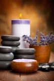 Lavender spa and aromatherapy Stock Photos