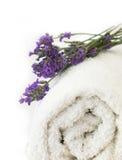 Lavender spa arrangement Royalty Free Stock Photos