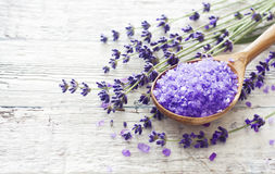Lavender spa background Stock Image