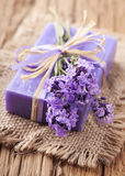 Lavender spa behandeling Royalty-vrije Stock Afbeeldingen