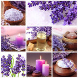 Lavender spa collage Royalty-vrije Stock Foto