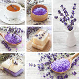 Lavender spa collage Royalty Free Stock Photography
