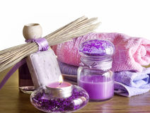 Lavender spa concept Royalty Free Stock Photos
