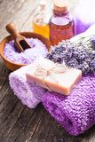 Lavender spa concept Royalty Free Stock Photo