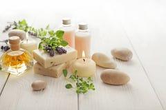 Lavender SPA cosmetics Royalty Free Stock Photo