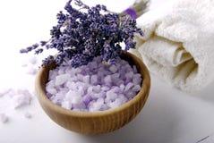 Lavender spa en boeket Royalty-vrije Stock Afbeeldingen