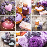 Lavender spa Royalty Free Stock Image