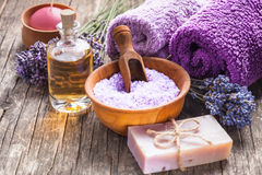 The Lavender spa Stock Images