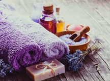 Lavender spa concept Stock Photo
