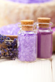 Lavender Spa minerals Stock Images