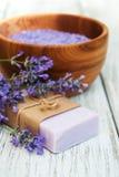Lavender Spa Producten Stock Foto