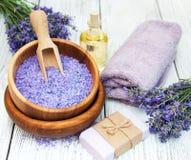 Lavender Spa Producten Stock Afbeelding