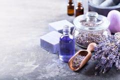 Lavender Spa Producten Royalty-vrije Stock Afbeelding