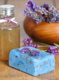 Lavender Spa Products stock photography