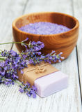 Lavender spa products Stock Photo