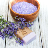 Lavender spa products Royalty Free Stock Photography