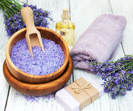 Lavender spa products Stock Image
