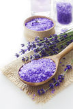 Lavender spa reeks Stock Fotografie