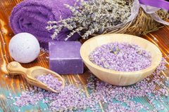 Lavender spa Royalty Free Stock Images