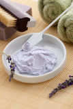 Lavender spa set Royalty Free Stock Photo