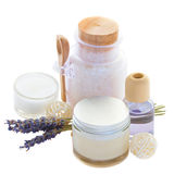 Lavender spa set Stock Images