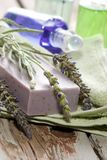 Lavender spa set Royalty Free Stock Image