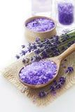 Lavender spa set stock photography