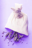 Lavender spa set isolated Royalty Free Stock Image
