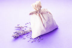 Lavender spa set isolated Royalty Free Stock Photo