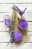 Lavender spa set Stock Image