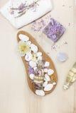 Lavender spa set Royalty Free Stock Image