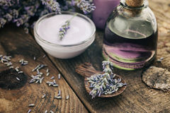 Lavender spa setting Royalty Free Stock Photos