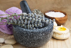 Lavender Spa Still Life Royalty Free Stock Photo