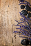 Lavender and spa stones Stock Photography