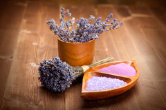 Lavender - spa supplies Stock Images