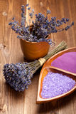 Lavender - spa supplies Royalty Free Stock Photo