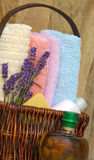 Lavender in spa treatmens Stock Photography