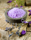 Lavender Spa treatment Royalty Free Stock Images