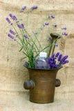 Lavender - spa treatment Royalty Free Stock Photos