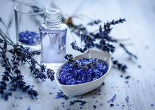 Lavender spa treatment Stock Photography